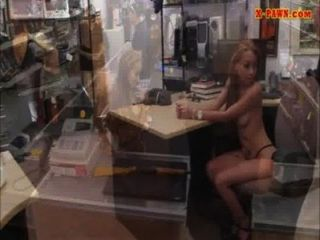 Latina Making Money By Fucking Her Muff At The Pawn Shop