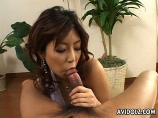 Splendid Japanese Chick Slurps A Hard Dong