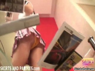 Cute Cleaning Girl Lara Flashing Her Panties