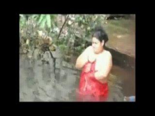 Open Bath Fatty Lady In Pond By Hidden Cam