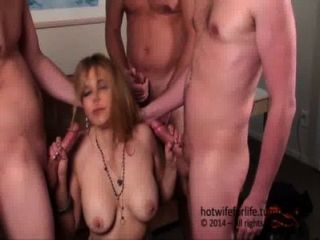 Beautiful Hotwifeforlife Does 4 Man Blowbang Scene