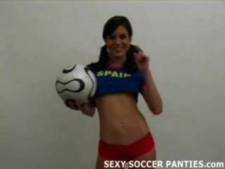 Sexy Spanish Soccer Hottie Gets Naked