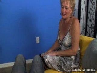Mature Slut Jerks A Big Cock