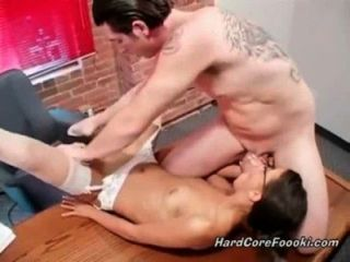 Sexy Babe Fucked In The Office