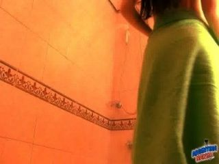 Sexy Slim Body Showing Tits Pussy N Ass In The Shower! Babe!