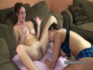 Busty Lesbos Lexxxi Lockhart And Mariah Munching Pussy