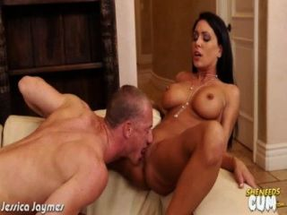 Busty Brunette Jessica Jaymes Gets Facialized