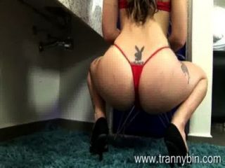 Blonde Tranny Model In Teasing Solo