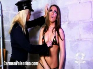 Carmen Valentina Gets Molested By Horny Lady Cop!
