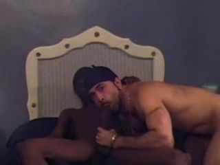 Ebony Guy Sucks A Huge Cock Of White Mate