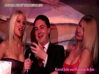 Lesbo Moment Between Cristal Jolie And Caroline De Jaie For Andrea Dipr