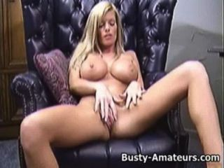 Busty Tera Playing Her Pussy On The Couch