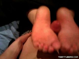 Teen Foot Cum