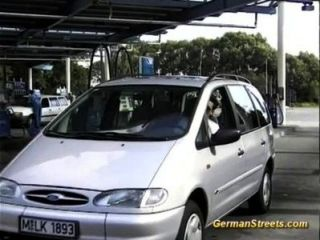 German Girl Sucks Cock In Car Trip