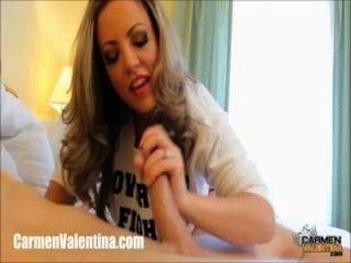 Carmen Valentina Footjob Big Cock Stroking