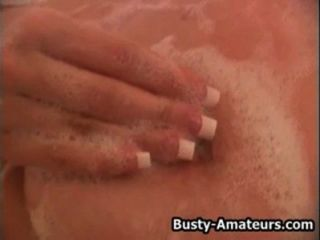 Busty Blonde Autumn Playing Her Pussy In Bath Tub