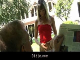 Oldman Fucks Nasty Skinny Blonde Teen Gina