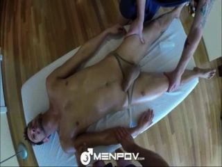 Menpov Hot Threeway Massage And Fuck With Toys