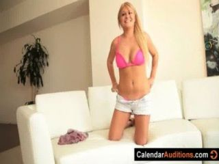 Hot Blonde Amber's Calendar Audition