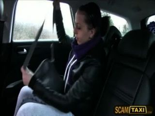 Hot Brunette Nikki Gets Fucked In The Backseat Of The Taxi And Receives Creampie