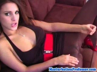 Sensual Nylon Pantyhose Babe Strips Down