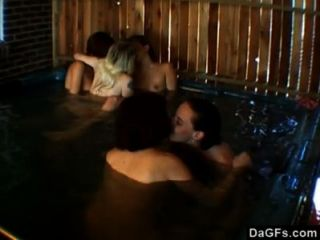 Lesbian Orgy In The Jacuzzi