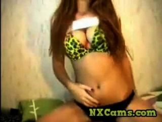 Long Haired Girl Webcam Show