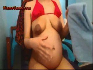Pregnant Amateur Milks Her Tits