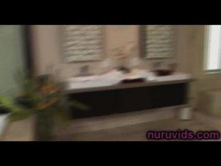 Asa Akira And Lizz Tayler Threesome In The Bathtub