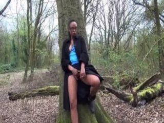 Melanies Outdoors Ebony Masturbation And Upskirt Peeking Up Naughty Shaved Black