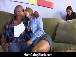 Monster Black Cock Bangs My Moms White Pussy 13