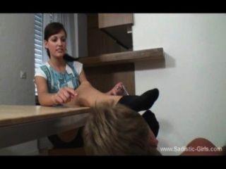 Lara Black Sock Worship Femdom