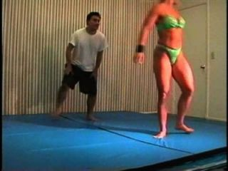 Flamingo Mixed Wrestling Mw076-01 - Christine Vs Stan Part 1