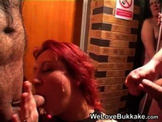 British Slut Getting A Full Mouth Of 20  Loads