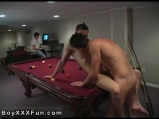 Gay Movie An Virginal Game Of Pool, Suddenly Turns Into A