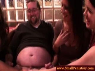Femdom Babes Tug Fattys Small Dick