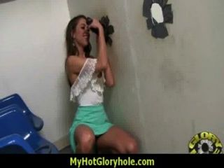 Sexy Wild Lady Deepthroats At Gloryhole 19