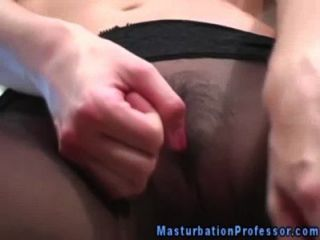 Panty Wearing Hottie Massages Her Clit