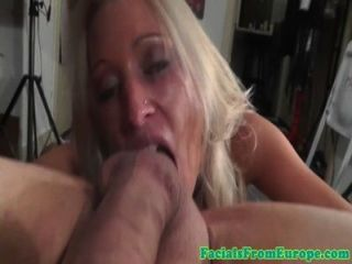 Amateur Blonde Cum Lover Sucking Dick