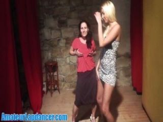 Beauty Blonde Teaches Her Shy Friend