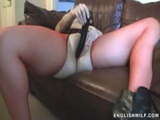 British Milf Fucked With Dildo Pov