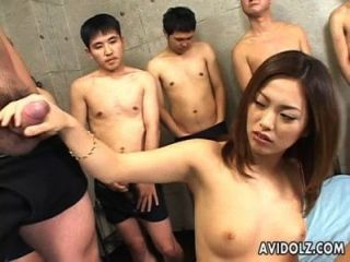 Elegant Japanese Cutie Pounded By Many Blokes
