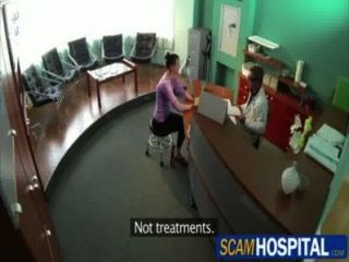 Hot Brunette Chick Gets Nailed In The Examining Table By The Pervy Doctor