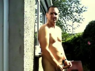Cumming In The Garden As A Train Passes!