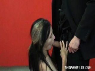 Fayes Rough Blowjob And Hardcore Sex Domination Of Smacked Up Slaveslut