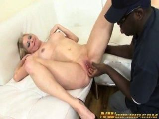 Blonde Milf Sucks And Fucks A Big Black Cock Into Interracial Sex Scene