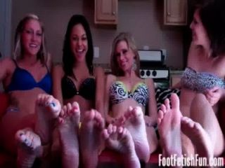 Four Girls Taking Your To Foot Fetish Heaven