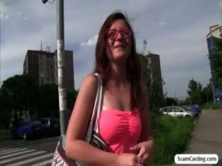 Hottie Johanna Gets Fucked From Behind By Fake Agent In The Public