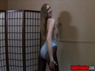 Cum Guzzler For Laci Star Cei Leotard Pantyhose