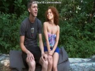 Shaved Pussy Chick Enjoys Very Hard Sex On The River Bank